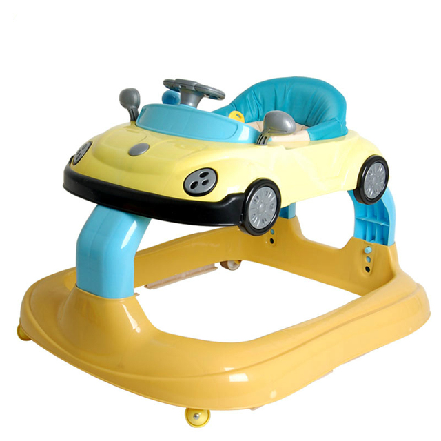 New Design Baby Walker 7 to 18 Months Baby Walker Rollover Prevention Multifunctional Children Step Car Folding Easy With Music