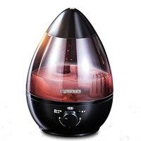 Gota de água design 2.5l ultra sônica aromaterapia purificação de água umidificador atomizador mudo névoa de ar umidificador de ar em casa escritório