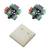 Mini Size 220V 1CH Wireless Remote Control Switch Relay Receiver 86 Wall Panel Remote Transmitter 315MHZ