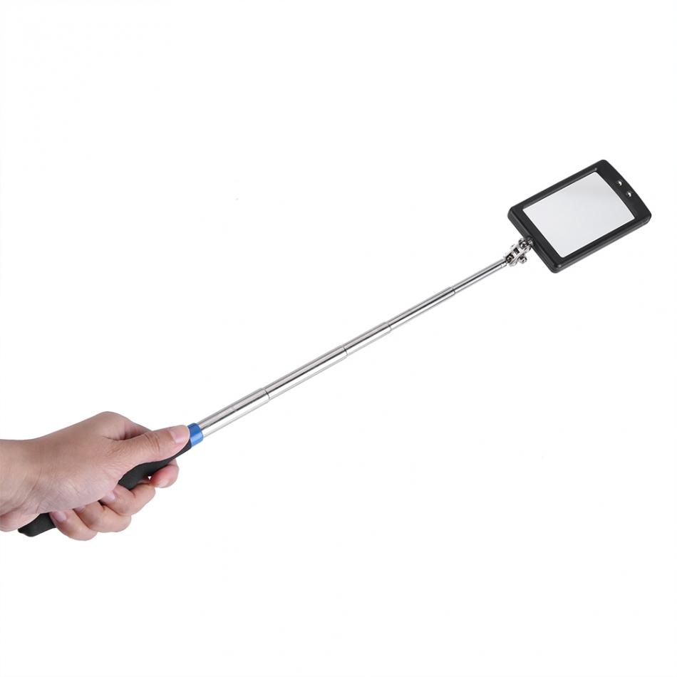 360 Degree Vehicle Inspection Mirror Telescoping Led