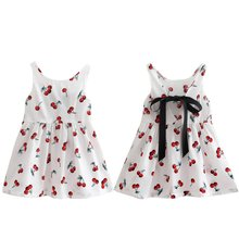 New Baby Girls Cotton Vest Dress Kids Sleeveless Sundress Summer Princess Shirt Dresses