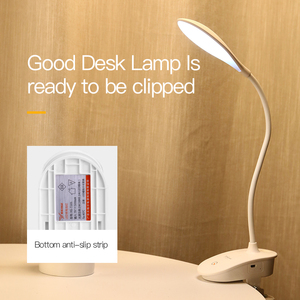 Image 5 - YAGE 7300K USB Table Lamp with Clip 1200mAh 18650 Rechargeable Led Desk Lamp Touch Lampe Flexo Bureau Study Night Light Table