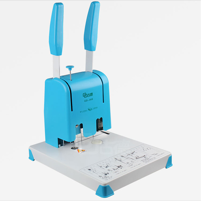 цена на 1PC GD30S  book binding machine,financial credentials, document,archives binding machine,manual drill