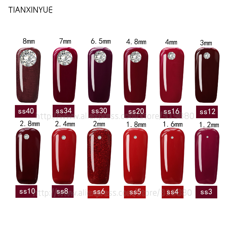 TIANXINYUE ss3 ss30 Starry sky Rhinestone Flat Back Glass Nail Rhinestones For Charms 3D Nails Art Decorations Strass in Rhinestones from Home Garden