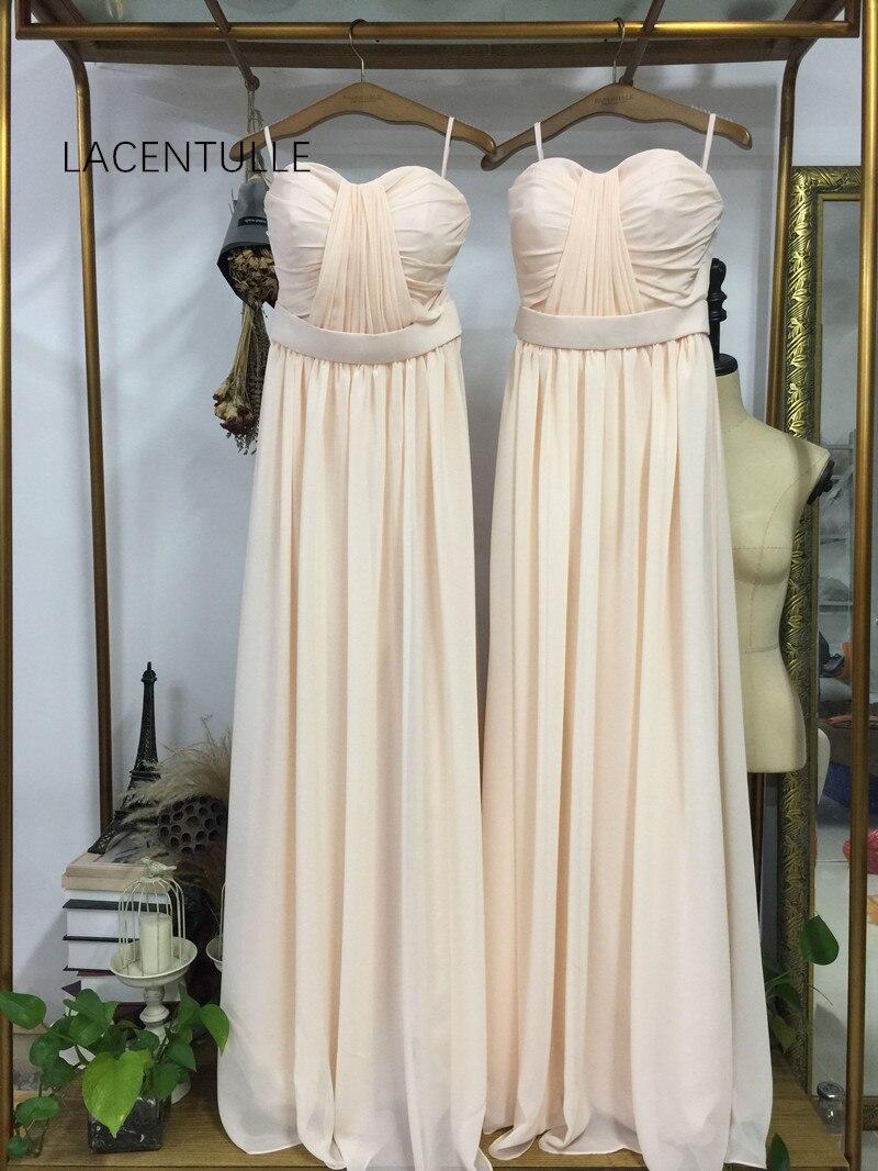 Robe de demoiselle d'honneur longue plissée sans manches élégante longueur de plancher robe de reconstitution historique formelle