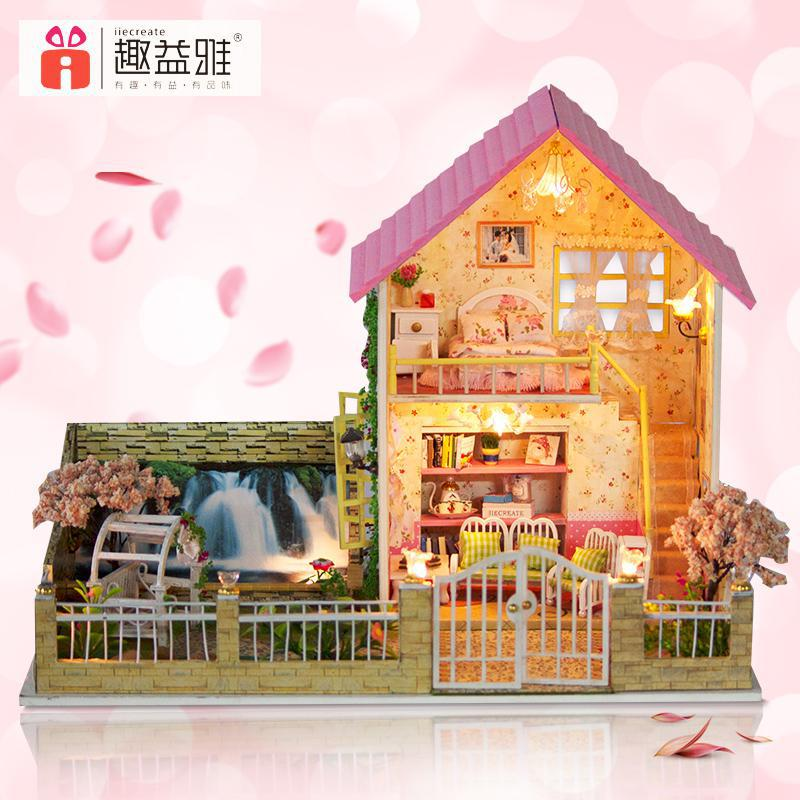 finest home decoration crafts diy doll house large wooden dolls house d miniature model kit dollhouse furniture with wooden dollhouse furniture kits