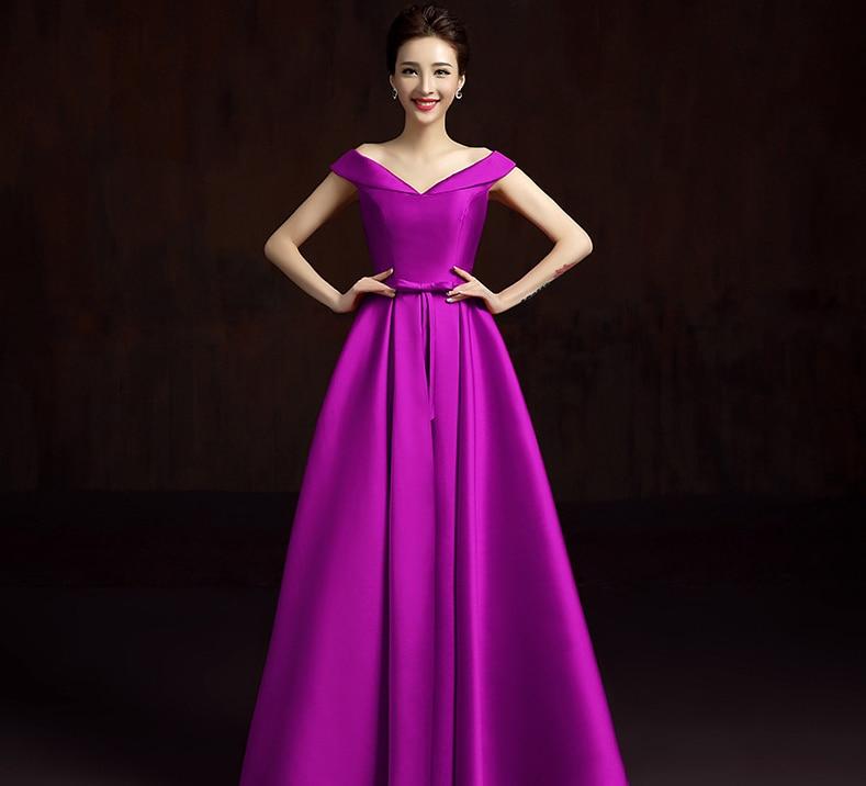 Lujo Vestido De La Dama De Honor Del Hombro Fuera Ideas Ornamento ...