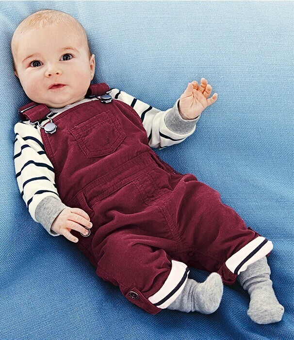 2015 free shipping Retail 1 set Top Quality! baby boy T-shirt+overalls 2 pcs/suits infant casual clothing sets