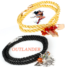 Wonder Woman Crown Bracelets Outlander Dragonfly Scottish Knot Amulet Rope Crystal Bangles&Bracelets Party Cosplay Wristband