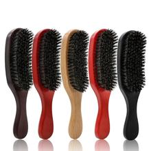 BellyLady Hair Comb Pig Bristle Wave Hair Brush Comb Hairs Beard Comb Large Curved Comb for Salon Hairdressing Styling Tools dimple curved design hair comb