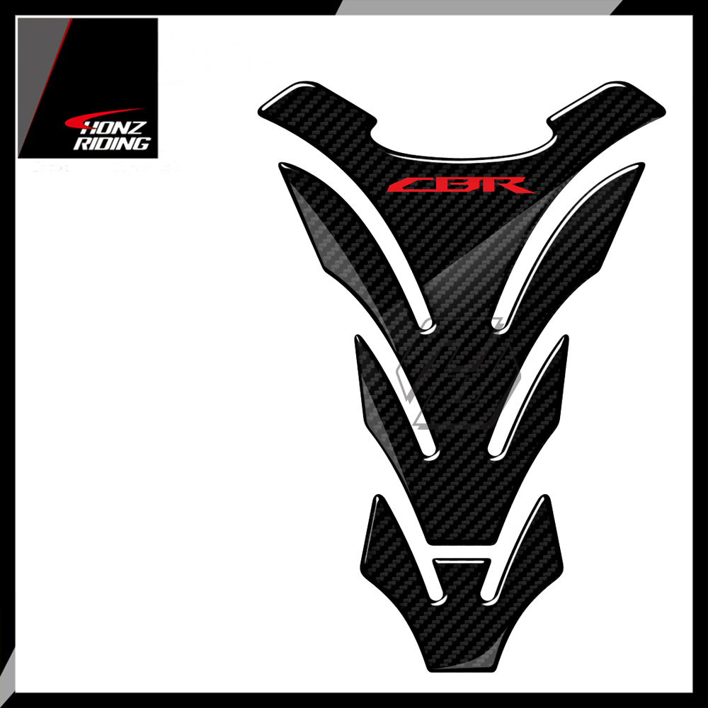 For Honda CBR 600 900 1000 Tankpad 3D Carbon Look Motorcycle Tank Pad Protector Stickers
