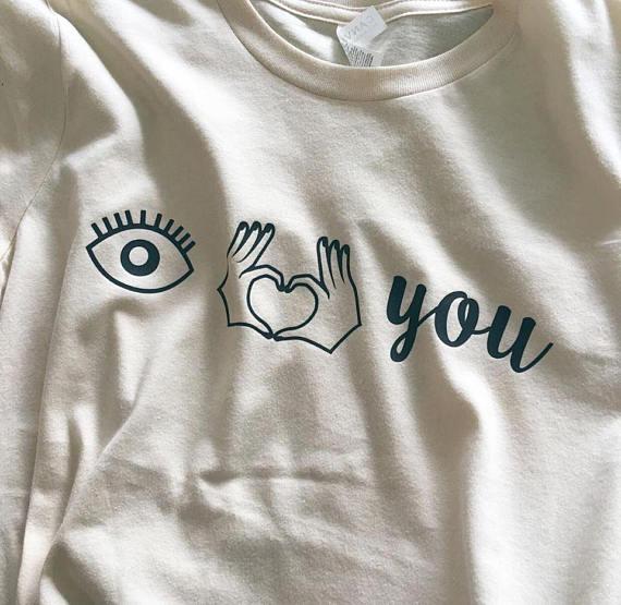 Te Amo Camisa Camisa Del Ojo El Amor Es Amor Camisa Camisas Con