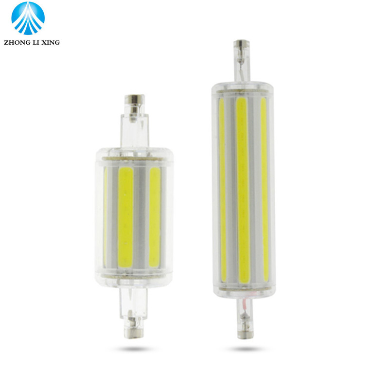 COB Dimmable R7S LED Lamp 9W 15W 78mm 118mm LED R7S Light Bulb AC85-265V Replace Halogen Light spot light r7s 78mm r7s 118mm r7s led bulb 78mm 10w led corn bulb 118mm 20w ac 220v r7s 4014 smd silicone leds lamps replace halogen 60w 120w light