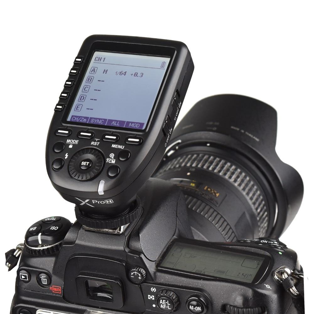 Godox XProN xpro-n déclencheur Flash sans fil 1/8000s HSS avec fonctions professionnelles Support i-ttl Autoflash pour appareil photo reflex numérique Nikon