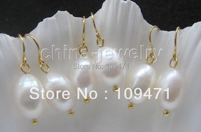 Hermosas 3 pairs 12 - 13 mm barroco blanco FW pearl earring