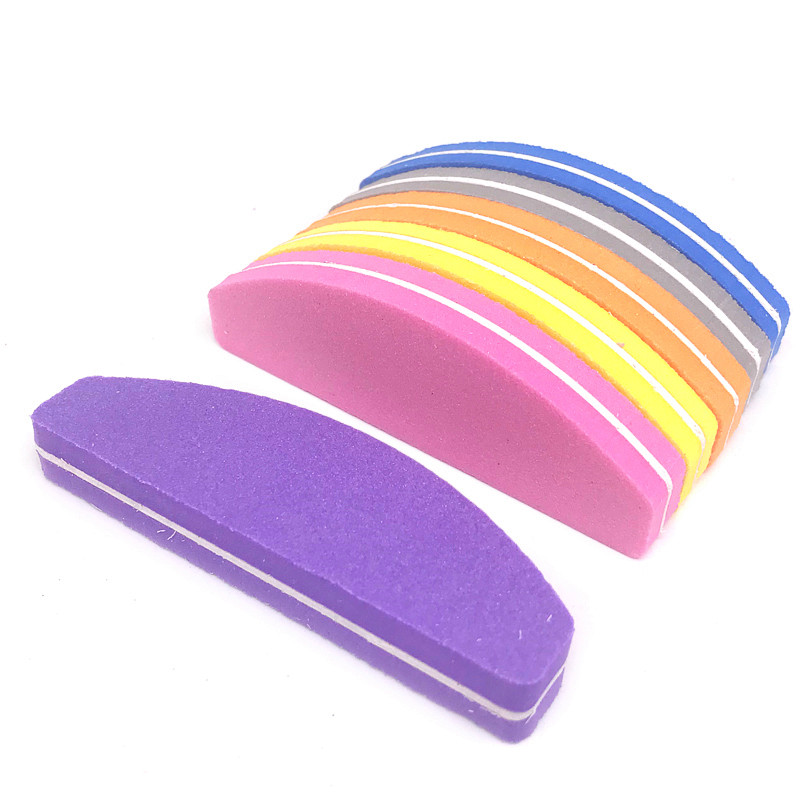 10pcs/ Pack 100/180 Grit Nail Files Washable Double-Side Emery Board Nail Buffering Files Salon Manicure Tools Supplier