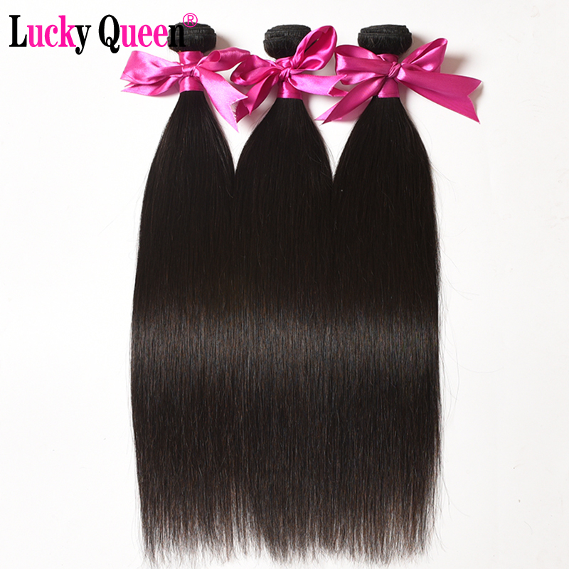 Brazilian Straight Hair 3 Bundles Deal 100 Human Hair Extensions Remy Hair Weave Bundles Lucky Queen