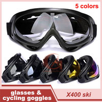 Hot X400 UV Protection Sports Ski Skate Goggles Motorcycle Cycling Tactical Goggle Glasses Eyewear Windproof Lens