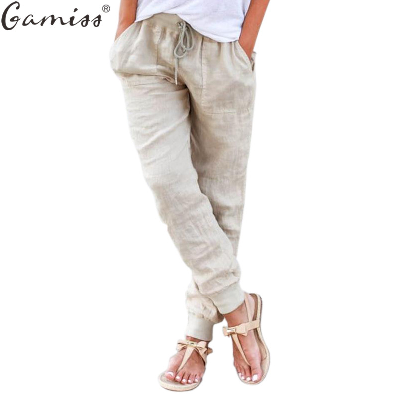 Elastic Linen Pants | Gpant