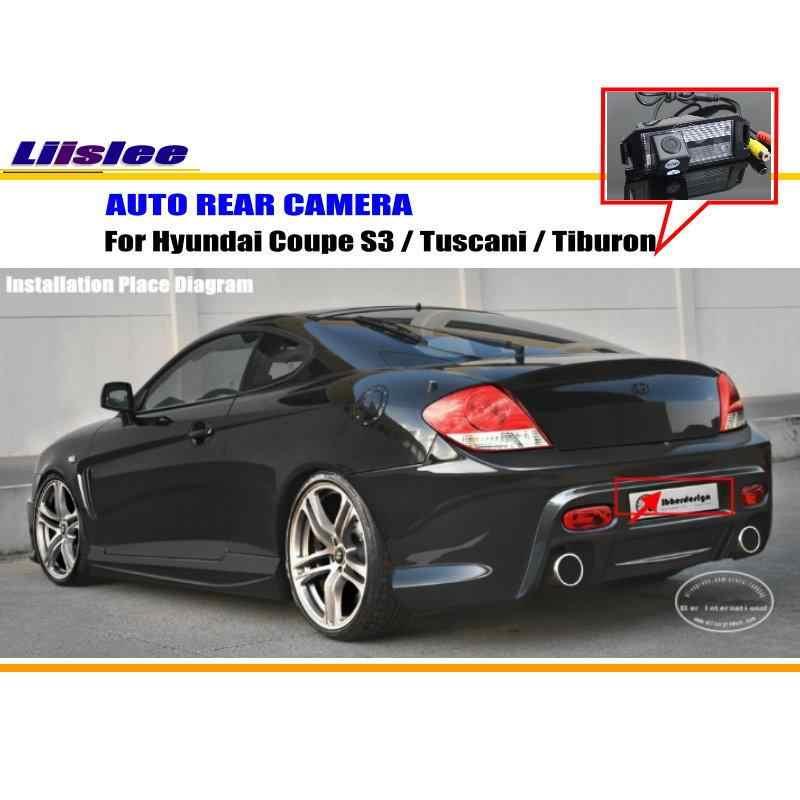 Liisleeヒュンダイクーペs3/tuscaniで/ティブロン/車駐車場カメラ/リバースカメラ/バックミラーカメラ/ナンバープレートランプ