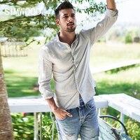 SIMWOOD 2018 Spring New Casual Shirts Men Slim Fit Long Sleeve Stand Collar Shirt Fashion 100