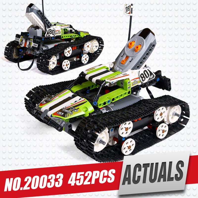Lepin 20033 397pcs Technic Series The RC Track Remote-control Race Car Set Educational Building Blocks Bricks Toys legoing 42065 glow race track bend flex glow in the dark assembly toy 112 160 256 300pcs slot race track 1pc led car puzzle educational toys