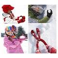 1 Unid/lote Invierno Nieve Bola Fabricante de Molde de Arena Juguete Herramienta Niños Ligero Compacto bola de Nieve Al Aire Libre Juguete Infantil Deportes de Colores Aleatorios