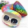 Frete Grátis 2017 Nova Moda Óculos De Sol Caso Óculos Caixa de Armazenamento De maquiagem caixa de lata Grande caixa de óculos de compressão caso Shell 066