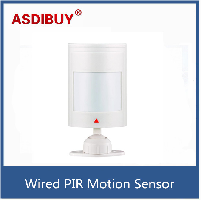 Wired PIR Motion Sensor Detector For GSM PSTN Home Security Alarm System personal alarm free shipping wireless pir sensor motion detector gsm alarm system alert for personal safely security new arrival high quality