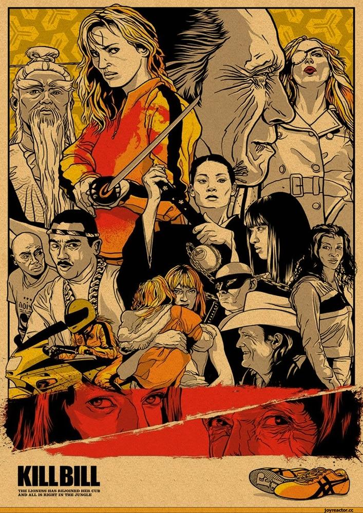 HTB14lfsbffsK1RjSszgq6yXzpXat Quentin Tarantino Movie Poster Collection, Vintage Kraft Poster, Decorative Poster, Home Decor, Movie Wall Sticker, Poster Movie