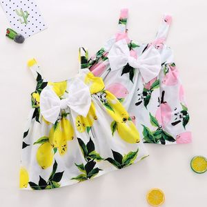 Summer Baby Dress 2019 New Lemon Printed Casual Baby Girls Clothes Sleeveless A-line Newborn Princess Dresses Infant Costume(China)