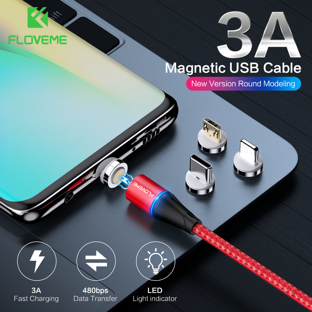 Image 2 - FLOVEME Magnetic Charger Micro Usb Cable For iphone Usb Type C Fast Charging Adapter Magnet Charger Wire For Samsung Xiaomi Cord-in Mobile Phone Cables from Cellphones & Telecommunications