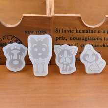 Dog with hole Silicone Mold Resin Mould handmade DIY Jewelry Making epoxy resin molds