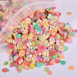 1000 шт./пакет 3D крошечные милые аксессуары для ногтей звезда/мультфильм/цветок/фрукты/перо Ломтики для нарезки ногтей
