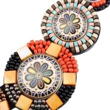 Tibetan Wood Tassel Necklace