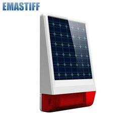 Nieuwe Collectie! draadloze 315 mhz of 433 mhz Outdoor grote strobe zonne-energie Sirene met LED knippert reactie klinken chooseable 130 dB