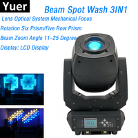 LED 230W Moving Head Lights Beam Spot Wash 3IN1 Moving Head Stage Lights DMX 6/18 Channels Dj Party Club Stage Lighting Effect