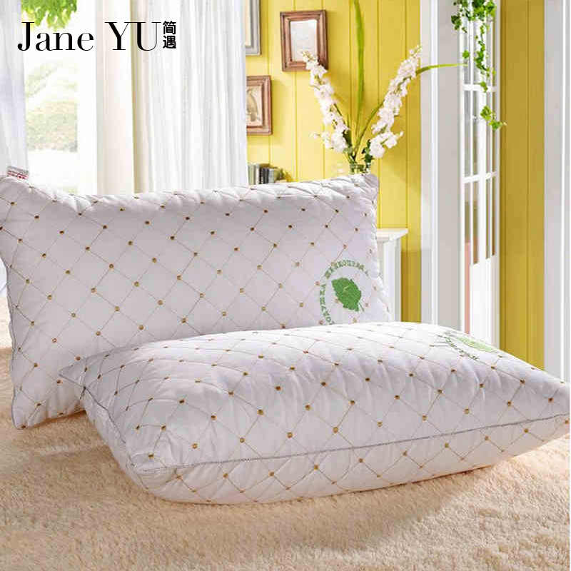 JaneYU 2019 100% Cotton healthy pillow cotton filled Neck health cotton bedding pillow 48x74cm High quality