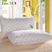 JaneYU 2019 100% Cotton healthy pillow cotton filled Neck health cotton bedding pillow 48x74cm High quality