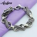 Wholesale Silver 925 Black Dragon Bracelets Men Trendy Jewelry High Quality Men Silver Bracelet Free Shipping Y345