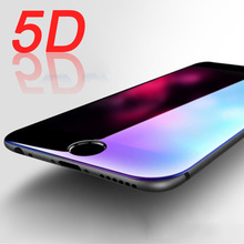 5D Edge Full Cover Tempered Glass For iPhone 6s 6 Plus Glass 5D Protective Glass For iPhone 6 6s Plus Screen Protector Film Foil