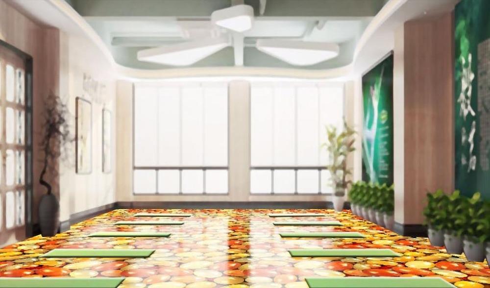 ФОТО 3d floor painting custom wallpaper Red and yellow jade goose 3d floor tiles for living room self adhesive wallpaper