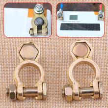 2pcs 45-200A Battery Copper Terminal Pile Head Clamp Clips Connector Negative And Positive