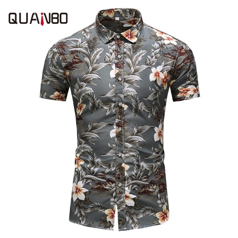 הגעה חדשה קיץ Mens הוואי חולצה 2019 גברים מקרית Camisa Masculina מודפס Mens הוואי חולצה דק קצר שרוול חולצות 6xl