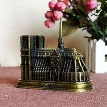 Vintage Notre Dame De Paris Eiffel Tower Model Miniature Figurines Arc De Triomphe Metal Statue Gift Home Decoration Accessories стоимость