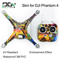 PGY Stickers PVC Skin Decal for DJI Phantom 4 Accessoies Professional Phantom drones Parts Quadcopter Shell Controller Accessory