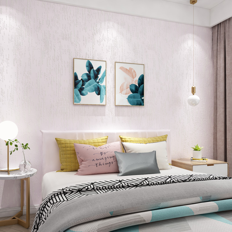 Paysota Modern Simple Solid Color Yellow Wallpaper Bedroom: Modern Simple Solid Color Wallpaper Pink Blue Yellow 3d
