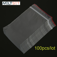 100pcs/lot Small Jewelry Zip Lock Plastic Clear Bags Reclosable Transparent Food Storage Bag Kitchen Package