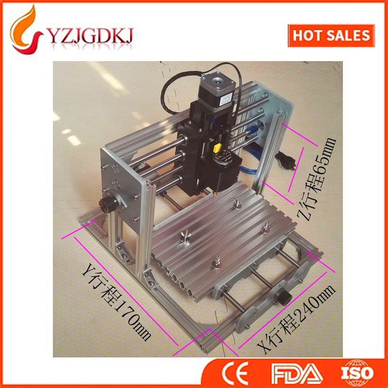 CNC 2417+2500mw laser GRBL control Diy high power laser engraving CNC machine,3 Axis pcb Milling machine,Wood Router+2.5w laser