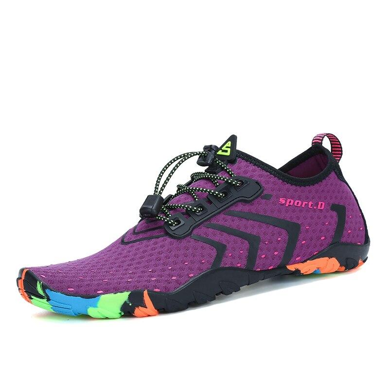 Zapatos de verano transpirable hombres Aqua zapatos playa sandalias zapatillas de deporte arriba zapatos de las mujeres de buceo calcetines de Tenis Masculino
